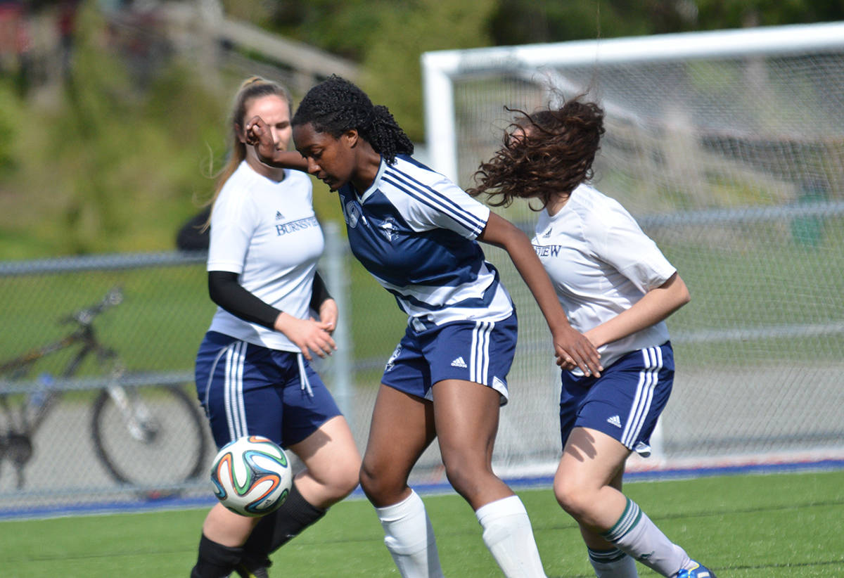 Langley Fundamental vs Burnsview at Noel Booth Park in senior girls soccer action. Gary Ahuja Langley Times