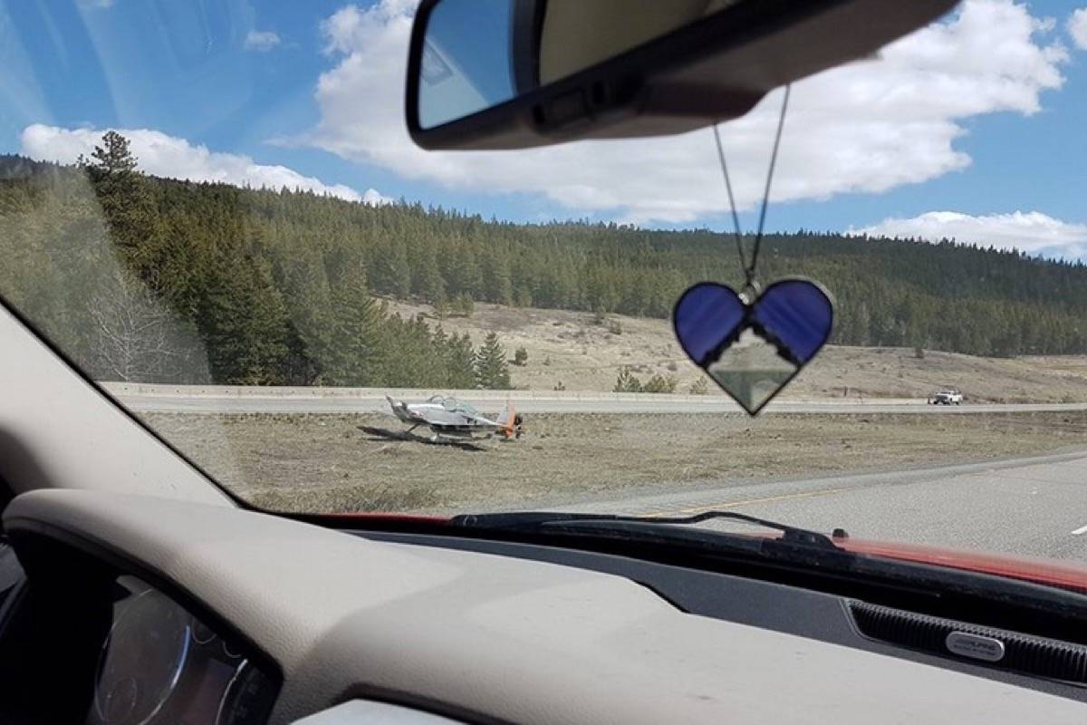 Plane makes a surprise landing on the Coquihalla