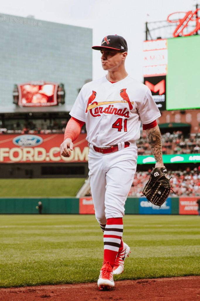 Tyler O'Neill made his Major League Baseball debut over the weekend for the St. Louis Cardinals. photo courtesy of St. Louis Cardinals Twitter page
