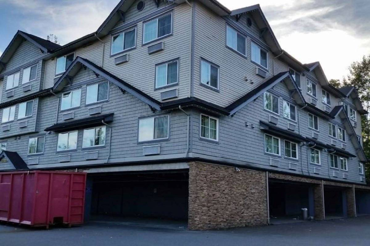 The Quality Inn at 200 Street sits empty after BC Housing purchased it last year. A second info session is planned sometime in late May or June about turning it into 49 units of supportive housing for the homeless. Langley Times file photo