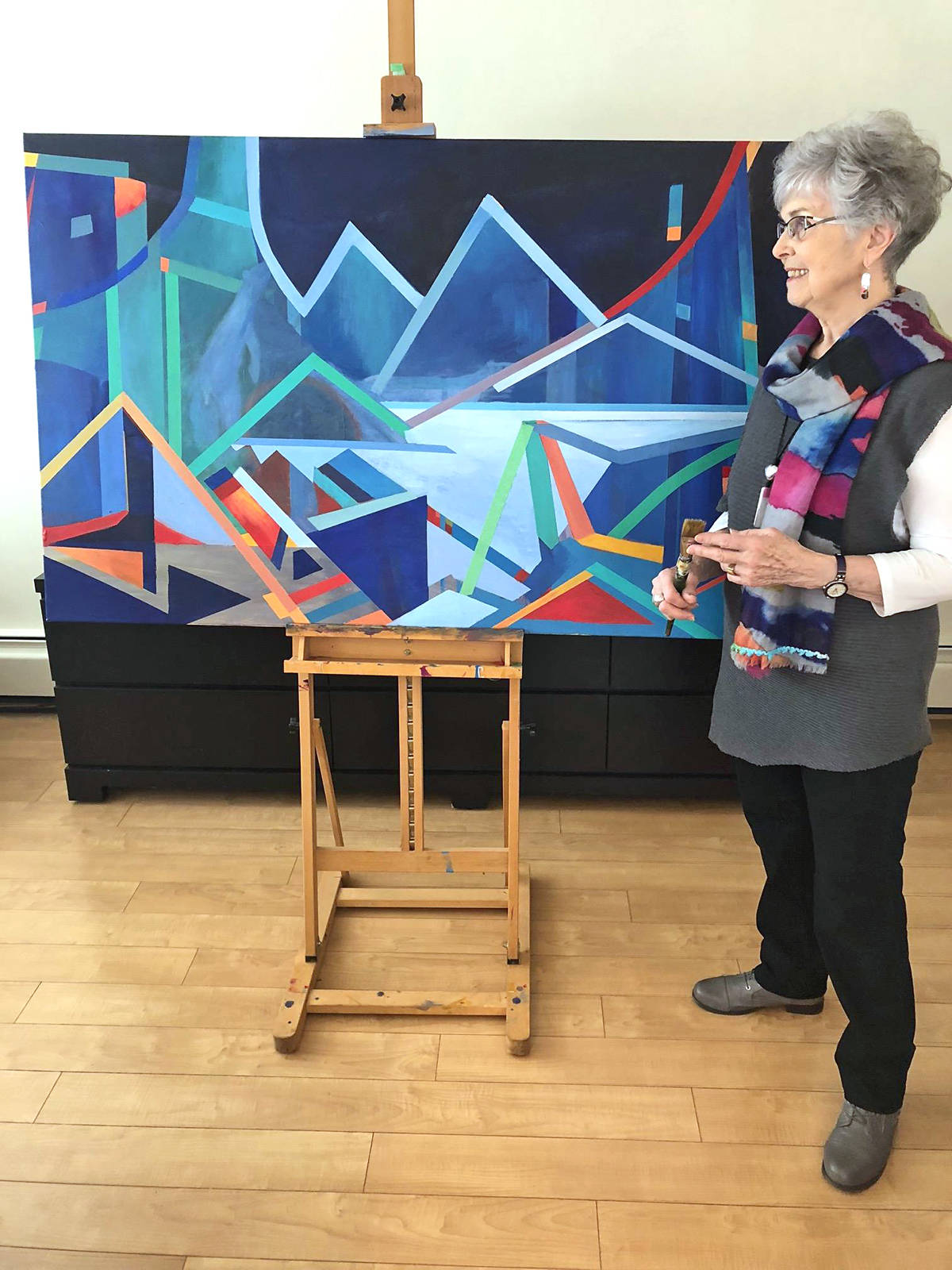 Artist Marilyn Dyer (pictured) has teamed up with Susan J. Falk for 'Fusion,' running at the Fort Gallery May 2 to 27. Submitted photo