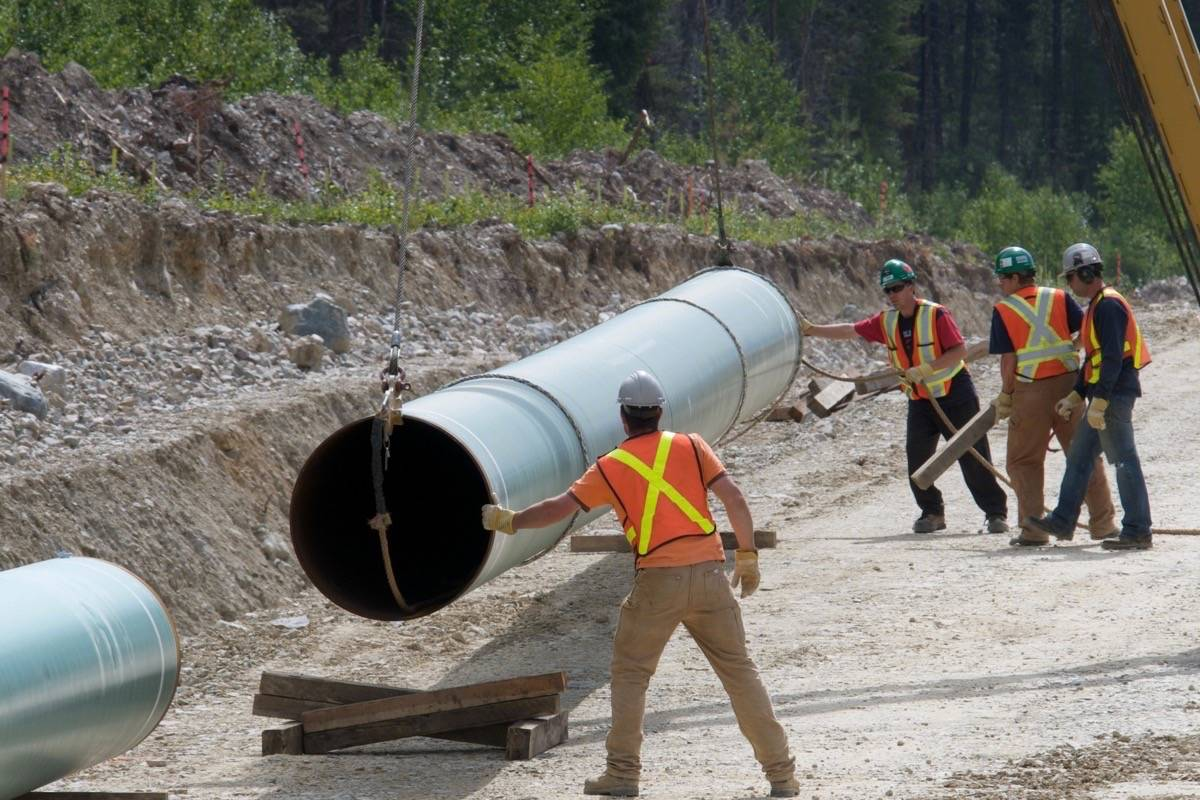 Pipeline construction on Trans Mountain line twinning, already completed in Alberta. (Kinder Morgan Canada)