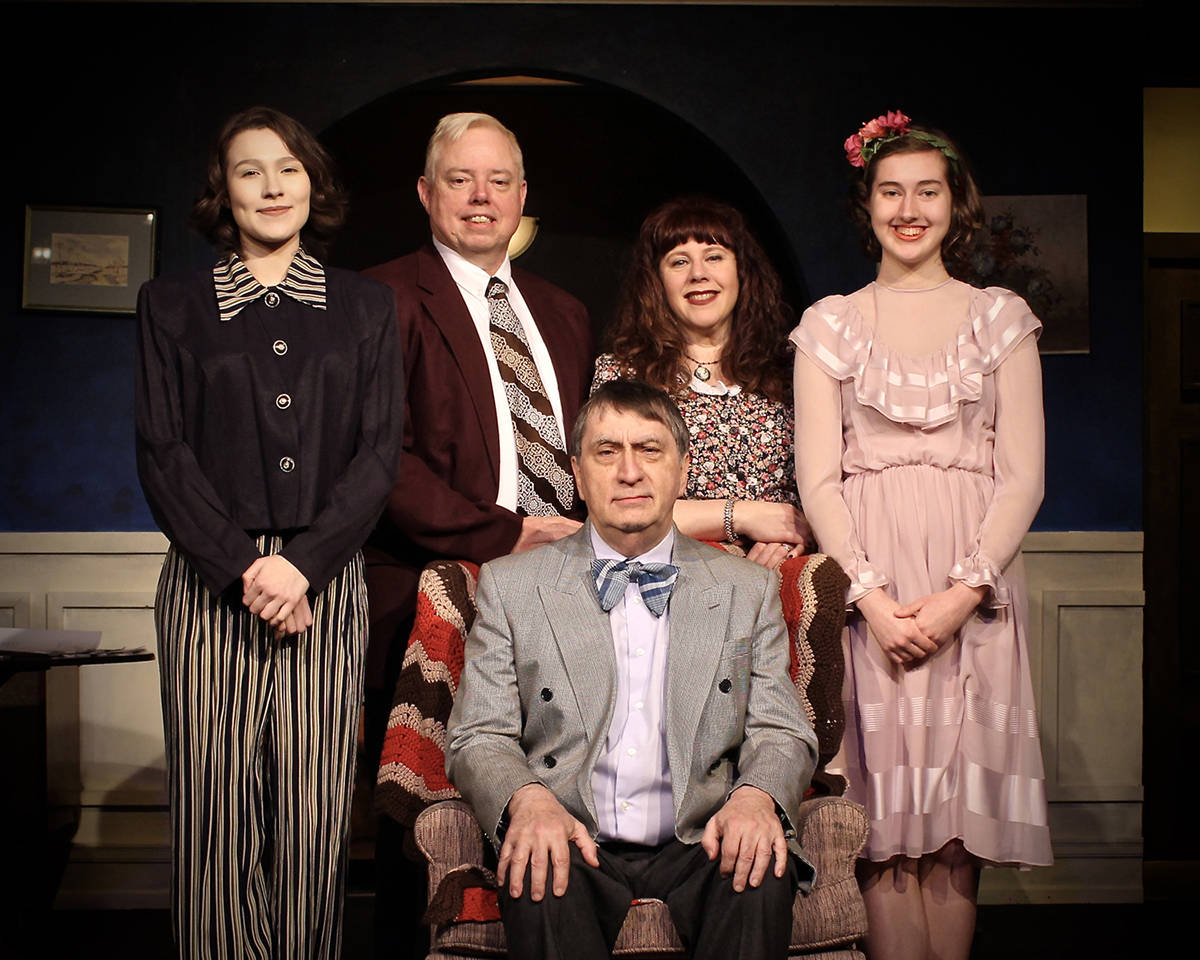 Gina Foster, Mike Parker, Cindy Hirschberg, Ashley Chodat and Roger Monk star in Vagabond Players' production of 'You Can't Take It With You,' running May 31 to June 24. Submitted photo
