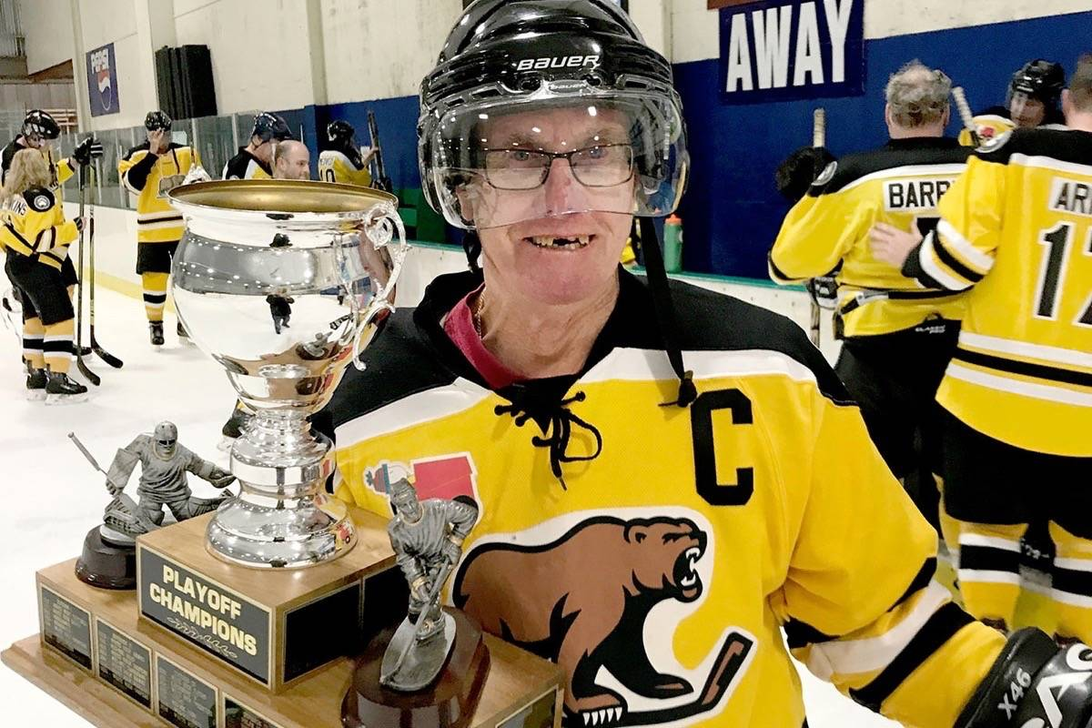Garry Newport, 73, is the oldest player in Langley's Adult Safe Hockey League. Submitted photo