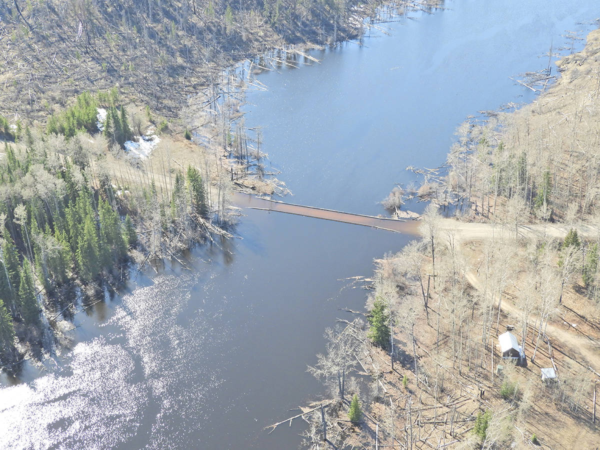 The bridge at 130 kilometres on Nazko North Road.