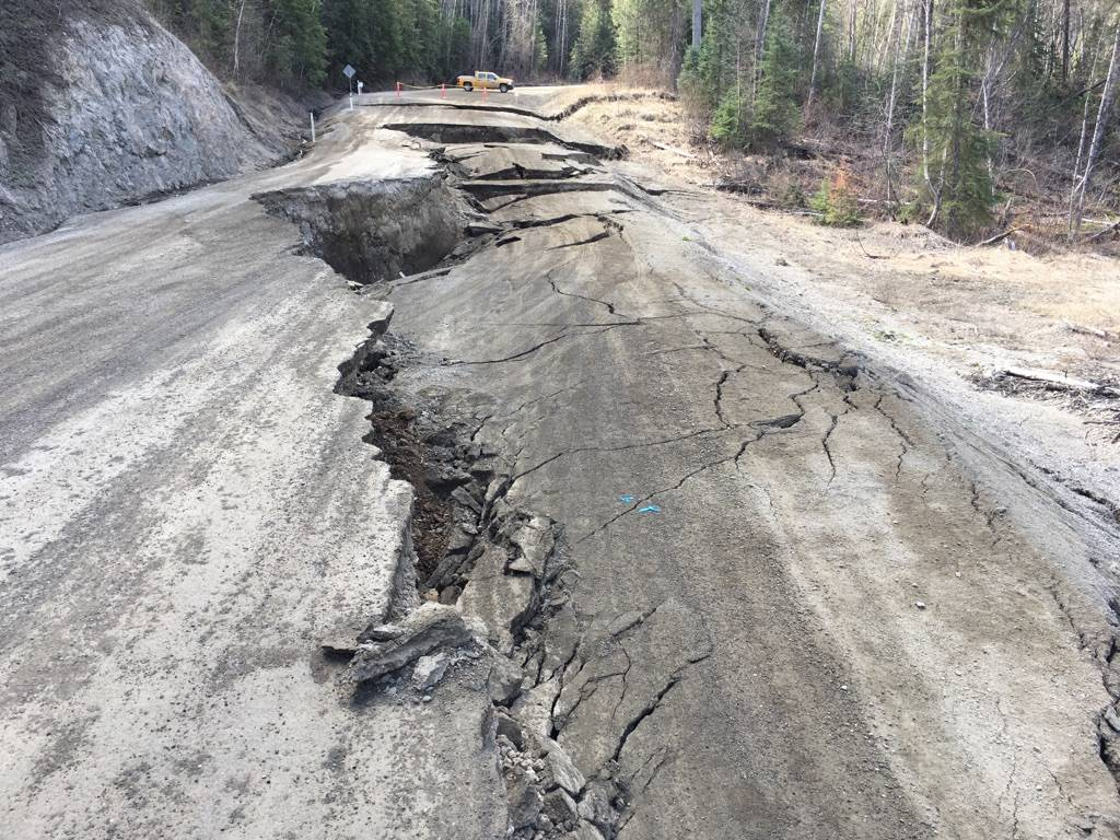 The slide area on Quesnel's Deep Creek. (Photos courtesy of Emcon Services)