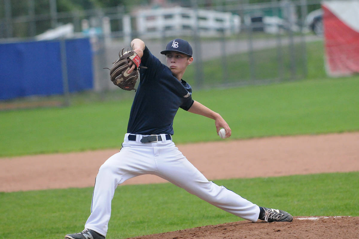 Langley Blaze pitcher Colby Ring in 2016. Gary Ahuja Langley Times file photo
