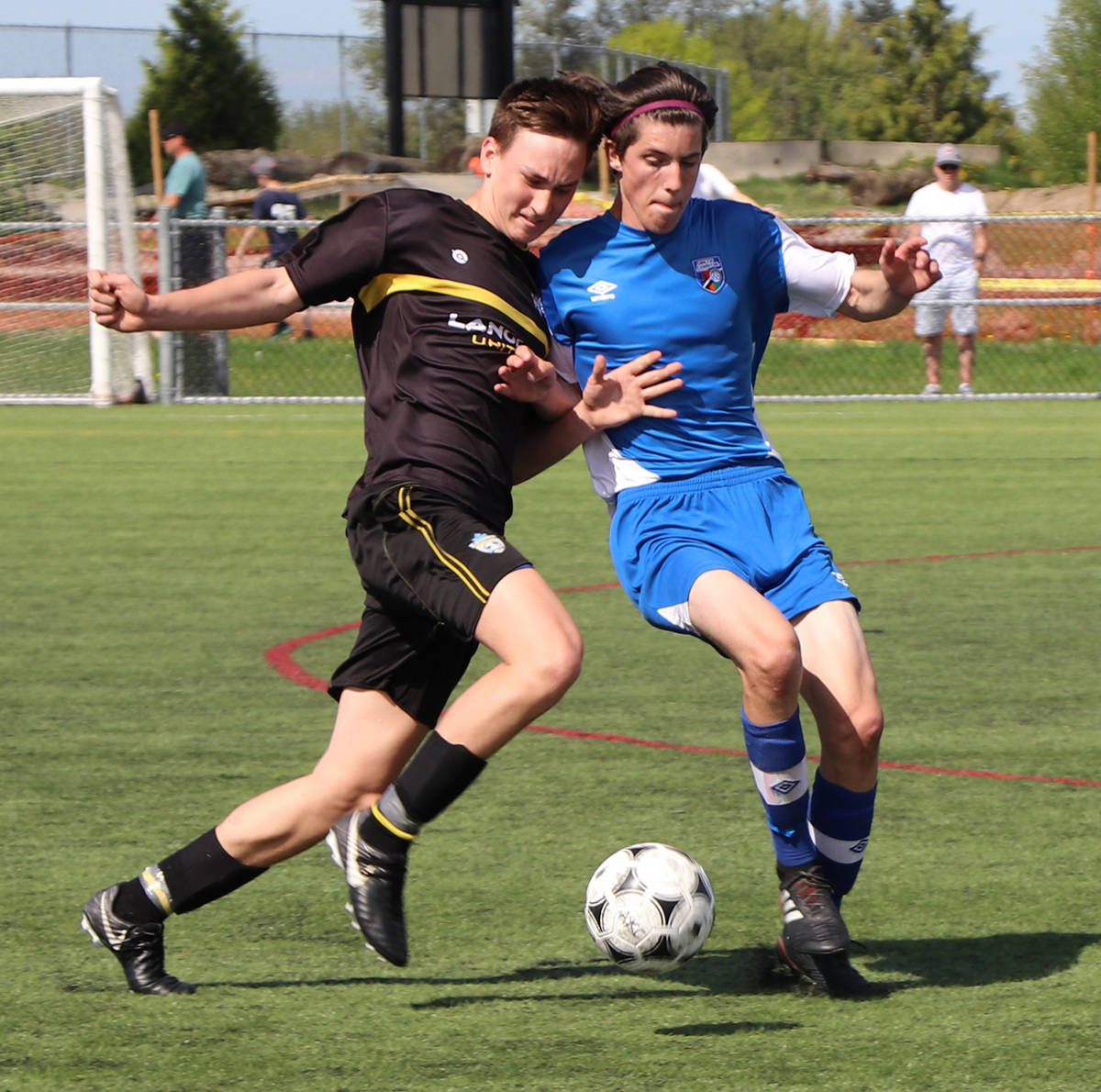 ART BANDENIEKS PHOTO Langley United U15 boys defeated Delta's DCS boys 3:0 in BC Coastal Cup soccer action over the weekend at Aldergrove Athletic Park.