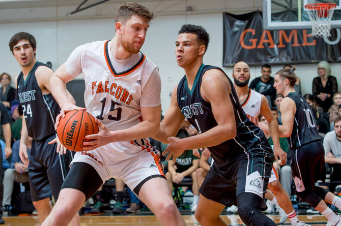 The Langara College Falcons will host the 2019 CCAA men's basketball championships at the Langley Events Centre next March. Submitted photo