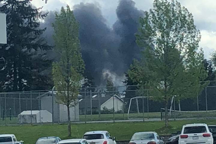 Fiona Constable captured this photo near the scene of a fire at Mt. Brenton Golf Club. (Submitted Photo)