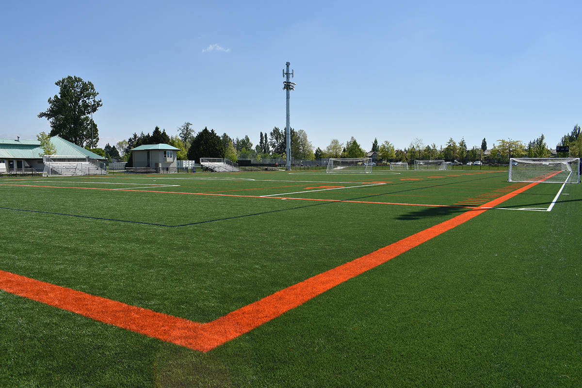 Field #1 is pictured. The artificial turf was replaced for a project cost of around $650,000. (Samantha Anderson)
