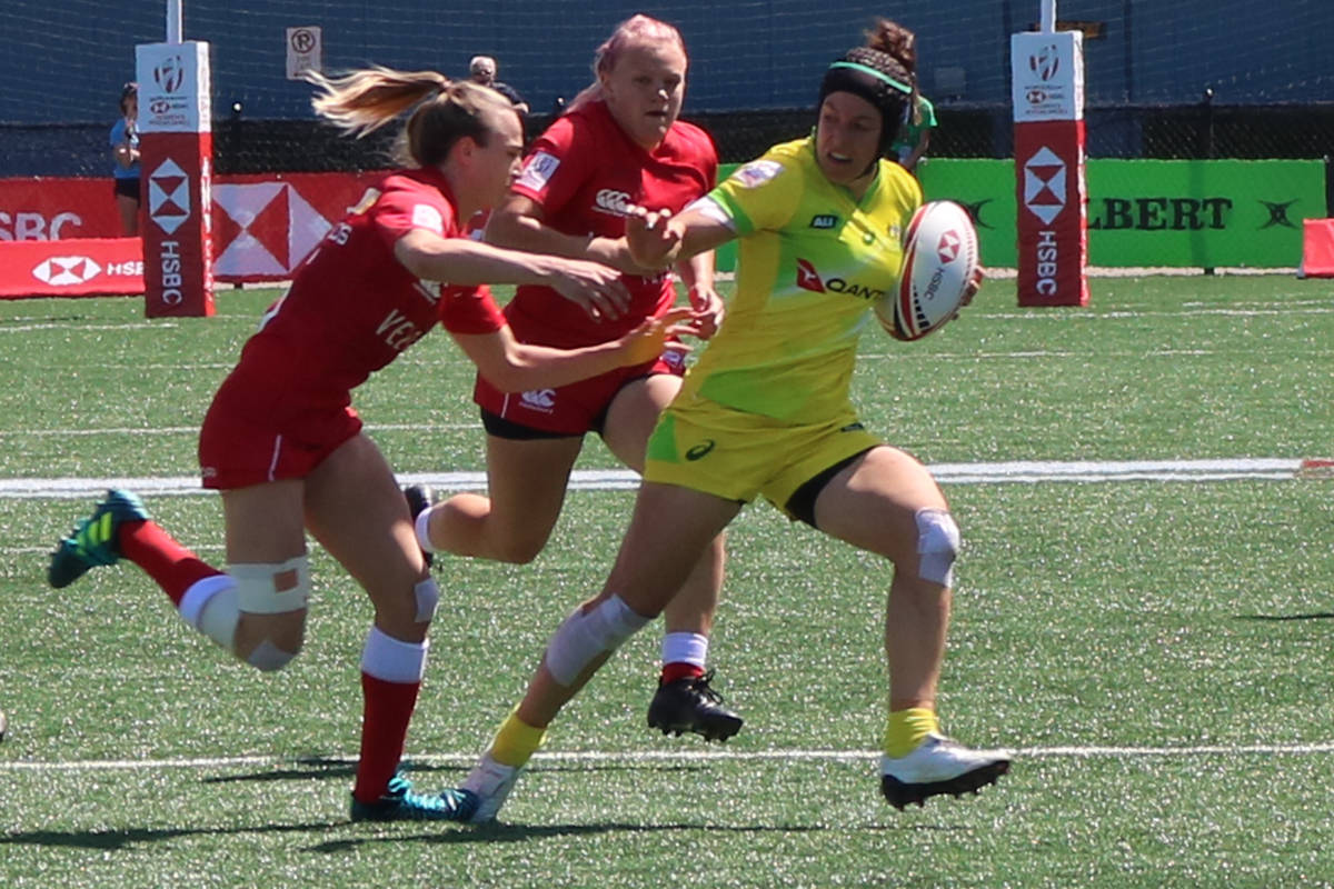 VIDEO: Canada's women kick off sevens tournament with tough loss to Australia