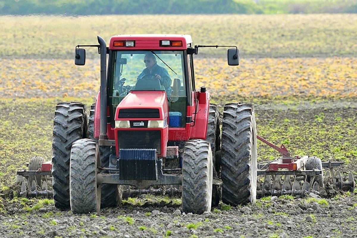Farmer discs a field in South Delta. (Black Press files)