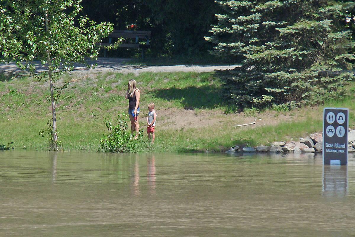 River levels were rising. Dan Ferguson Langley Times