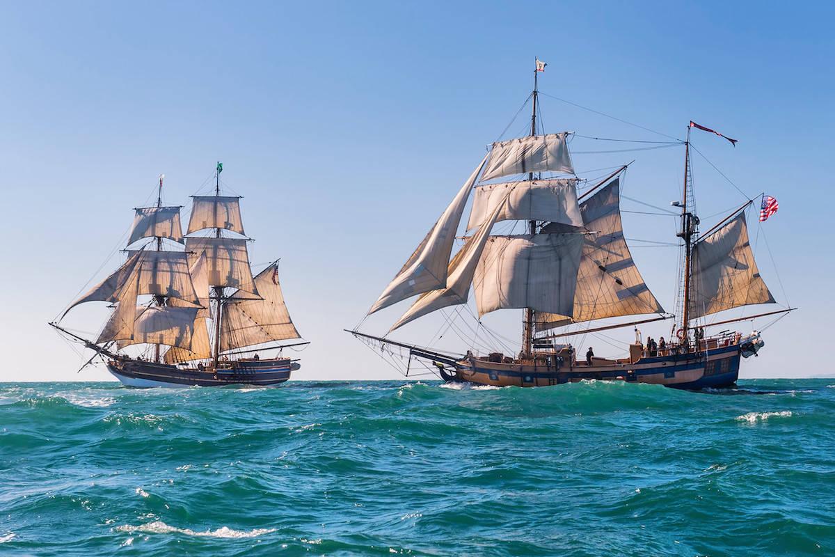"The tall ships ""Lady Washington"" and ""Hawaiian Chieftain."" (submitted photo: Rick Horn)"