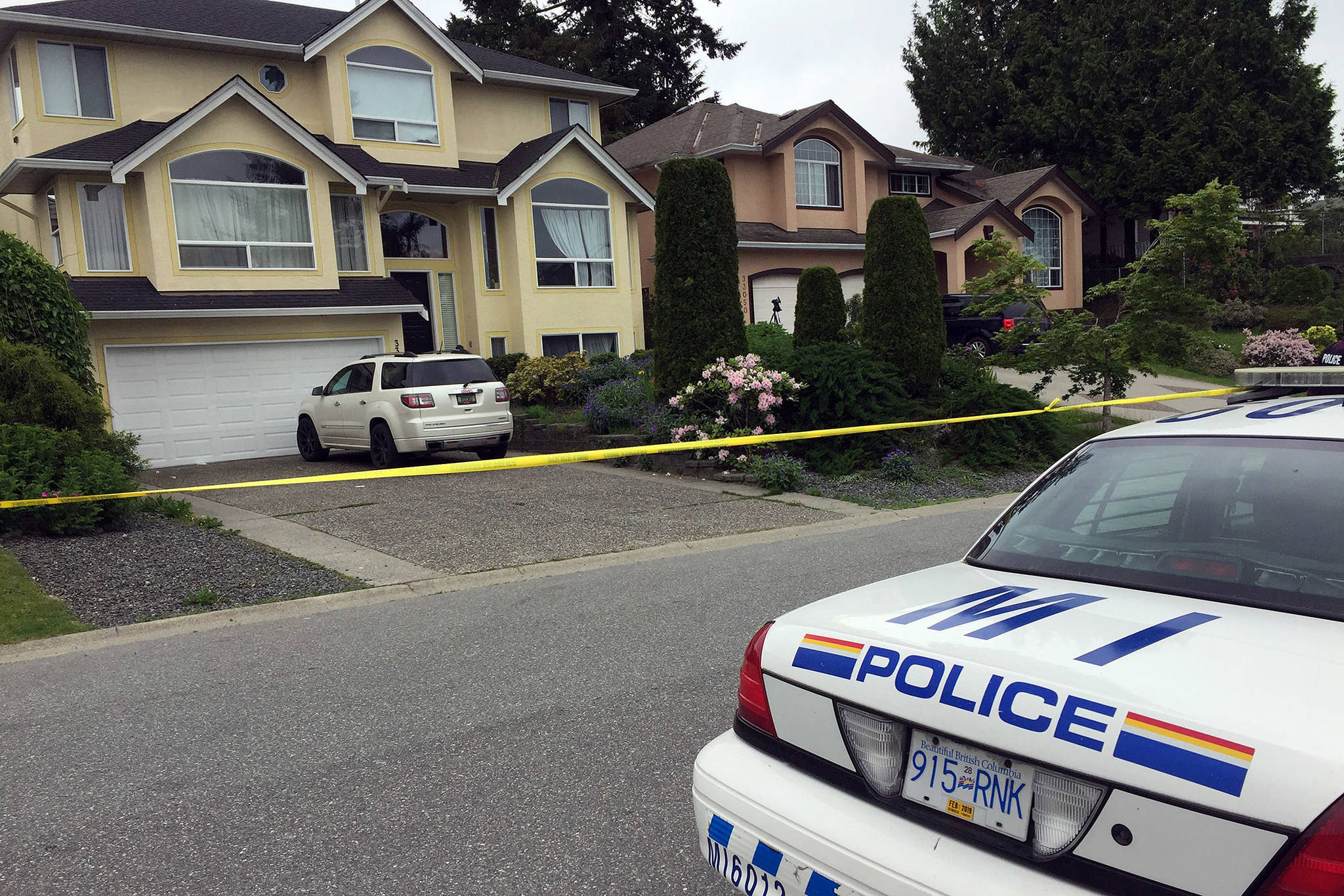 Mission RCMP taped off two properties on Hawthorne Avenue after a toddler was found unresponsive in a backyard pool. The 23-month-old girl went missing from a local daycare.
