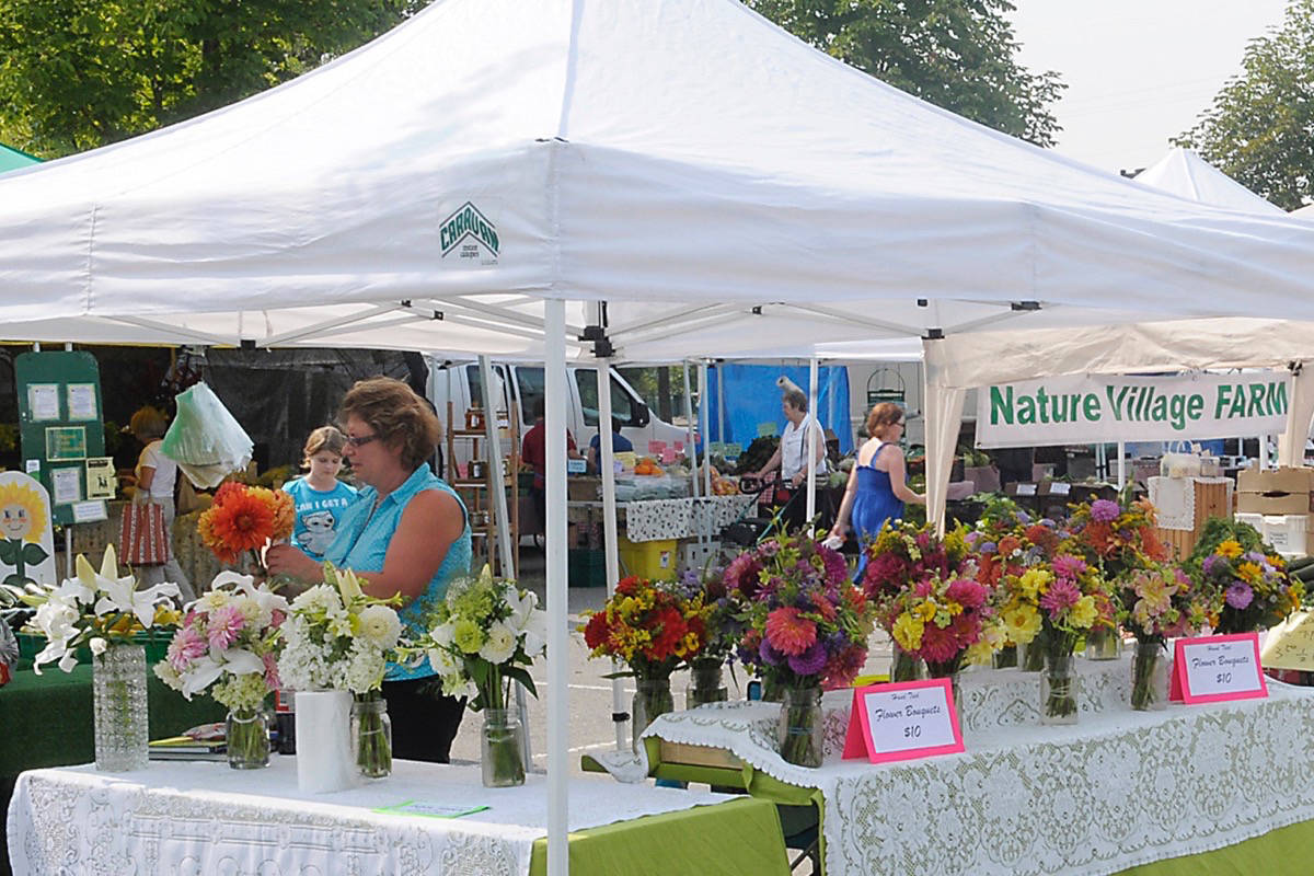 Thieves stole four large 10' x 10' tents that belong to the Langley Community Farmers' Market. Langley Times file photo