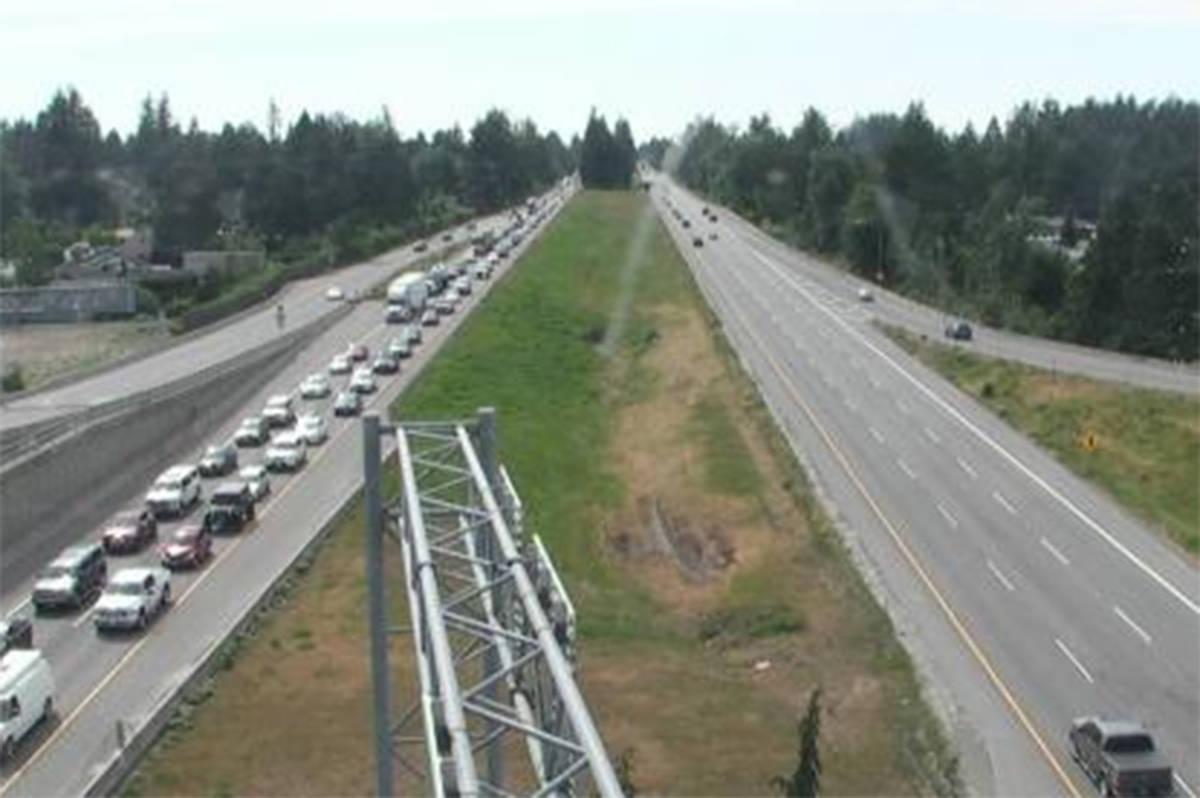 TRAFFIC ALERT: Highway 1 backed up following crash