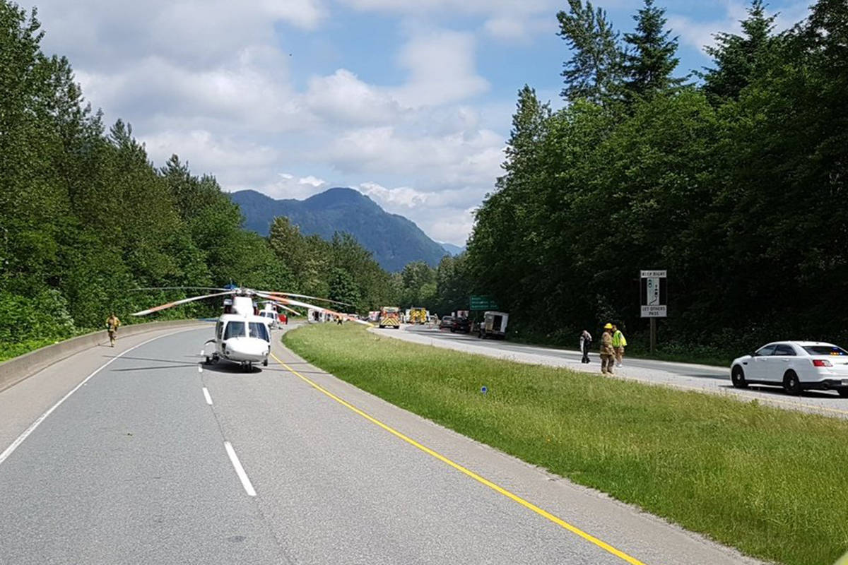 UPDATE: One dead, two in hospital after Highway 1 crash near Bridal Falls