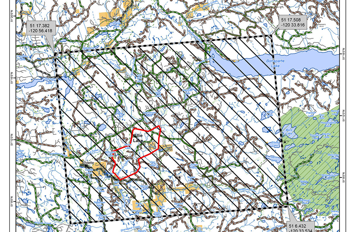 More accurate mapping puts Allie Lake wildfire northwest of Kamloops estimate at 2,700 hectares