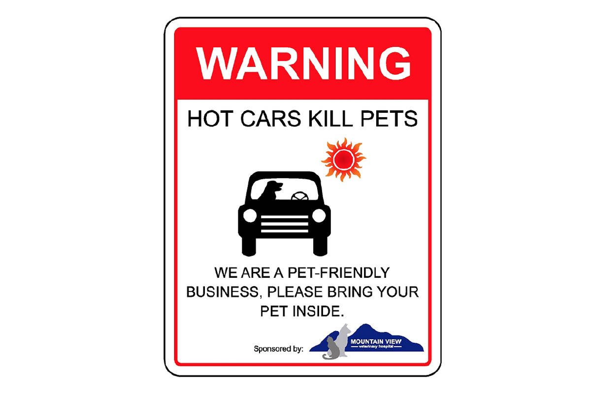 Mountain View Veterinary Hospital is once again offering local businesses free window signs (pictured) to let customers know they are welcome to bring their pets inside. Submitted image