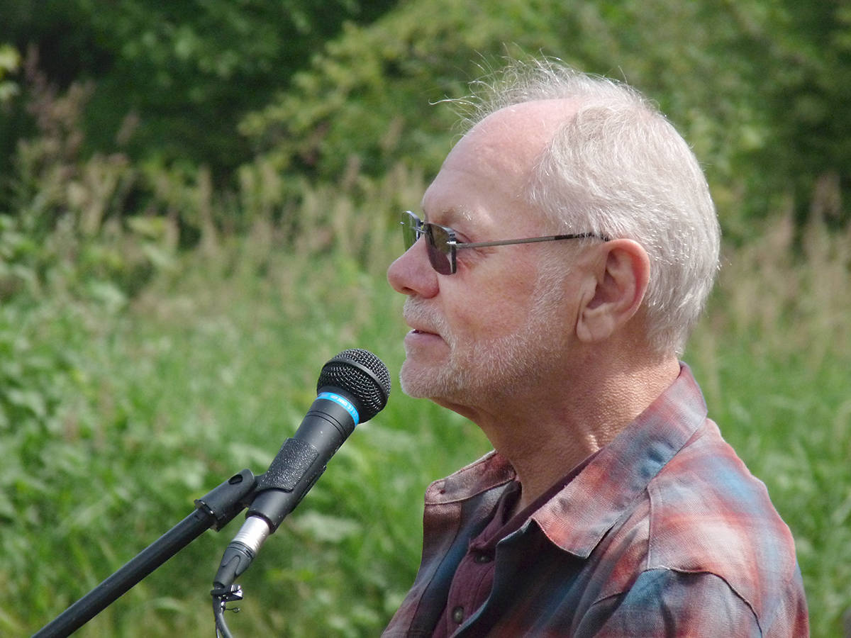 """Kurt Alberts described it as a """"feel-good project"""" at the official opening of the Memory Grove. Dan Ferguson Langley Times"""