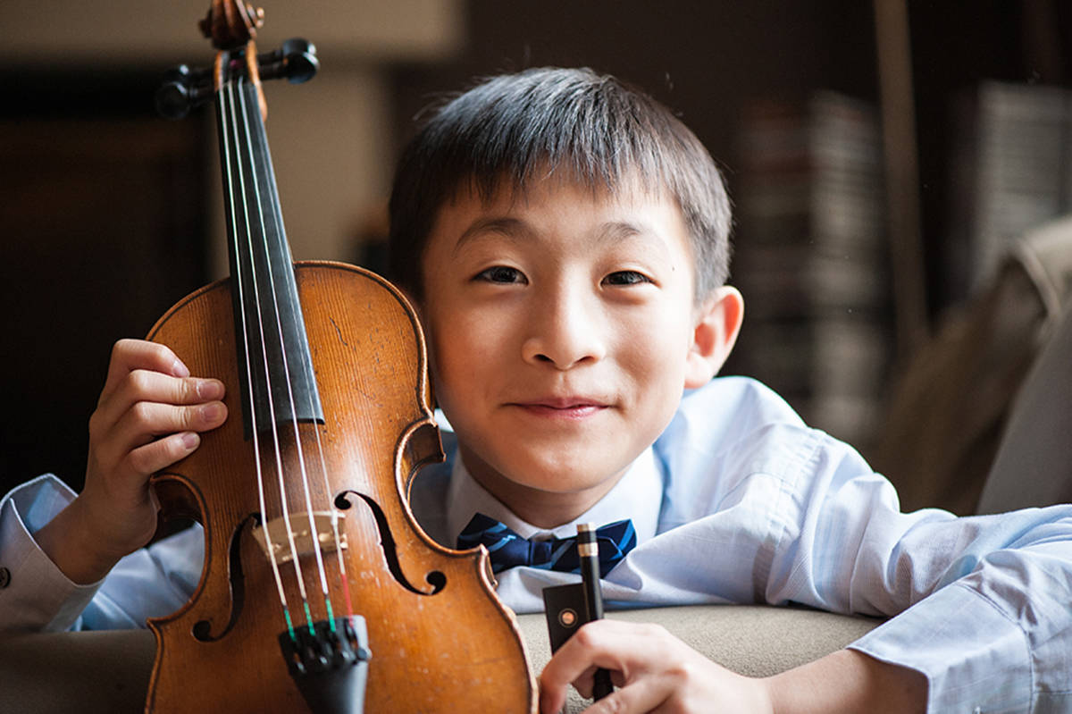 Cloverdale student Da-Wei Chan, 10, recently won the VSO School of Music's annual concerto competition, which means the talented violinist will get to make his solo debut with the Vancouver Symphony Orchestra in its 100th anniversary season. (Submitted)