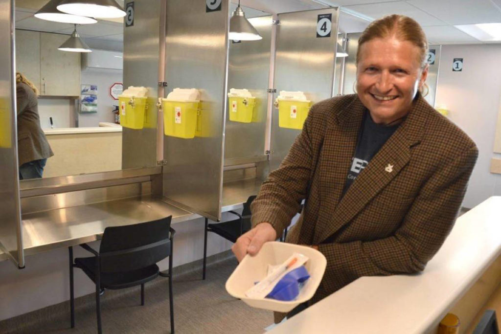 Shayne Williams is executive director of Lookout Emergency Aid Society, which runs the SafePoint supervised consumption site on 135A Street. (Photo: Amy Reid)