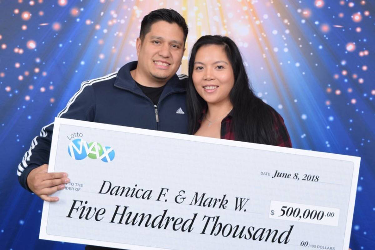 Mark Wroblewski and Danica Flores won $500,000 in the June 1 Lott Max draw. (Contributed)