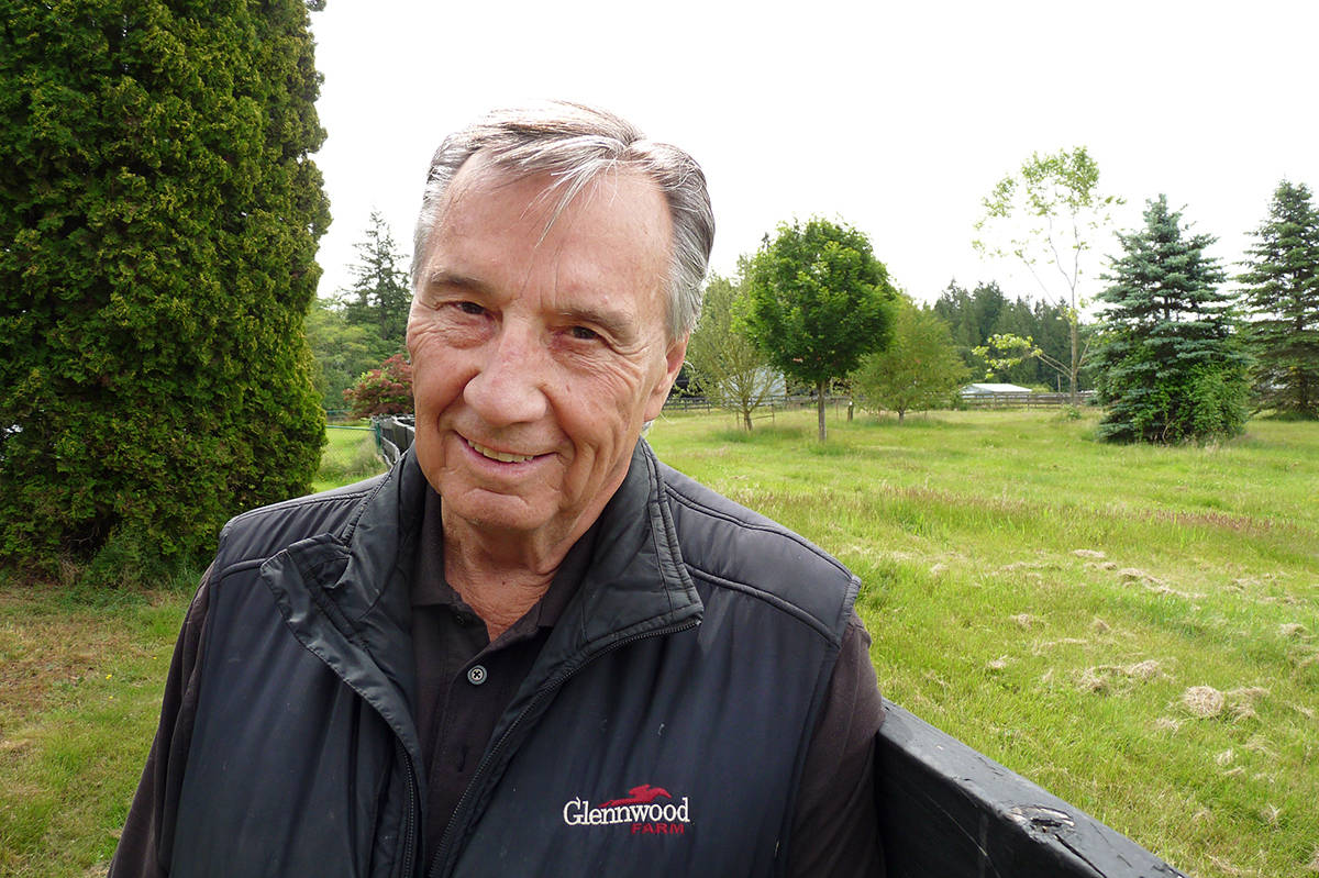 John Gunther at his Langley farm. He says watching his horse win the Triple Crown of horse racing was an emotional experience. Dan Ferguson Langley Times