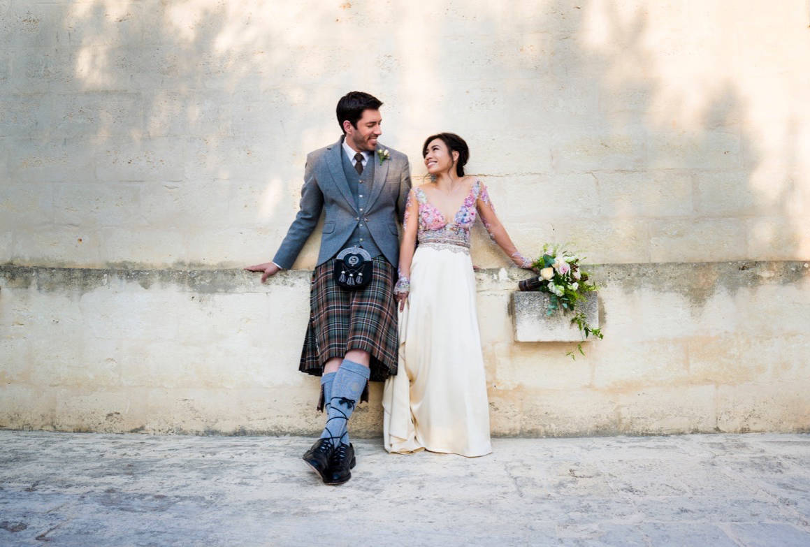 (Contributed)                                Drew Scott of Property Brothers and his new bride Linda Phan.