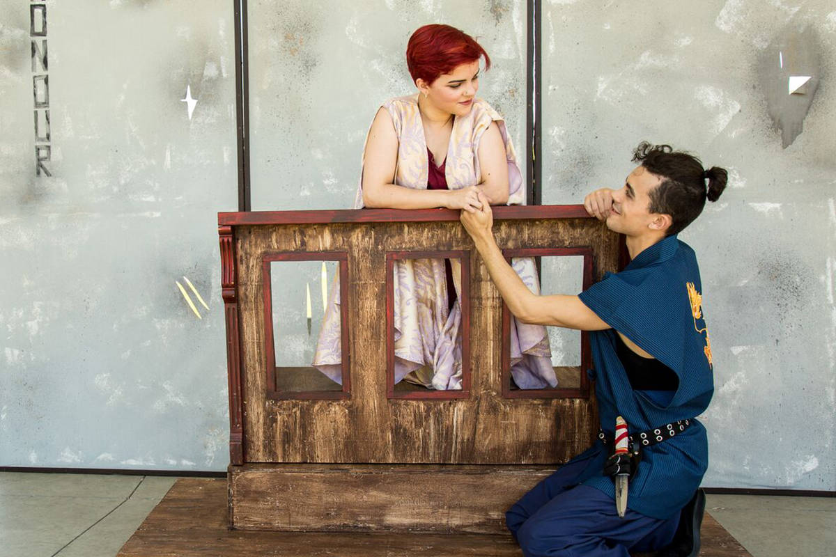 Langley's own Ahnika Barber takes on one of the lead roles as Juliet, while Burnaby actor Reilly Ellis plays her love interest, Romeo. Supplied photo by Graham Bryan