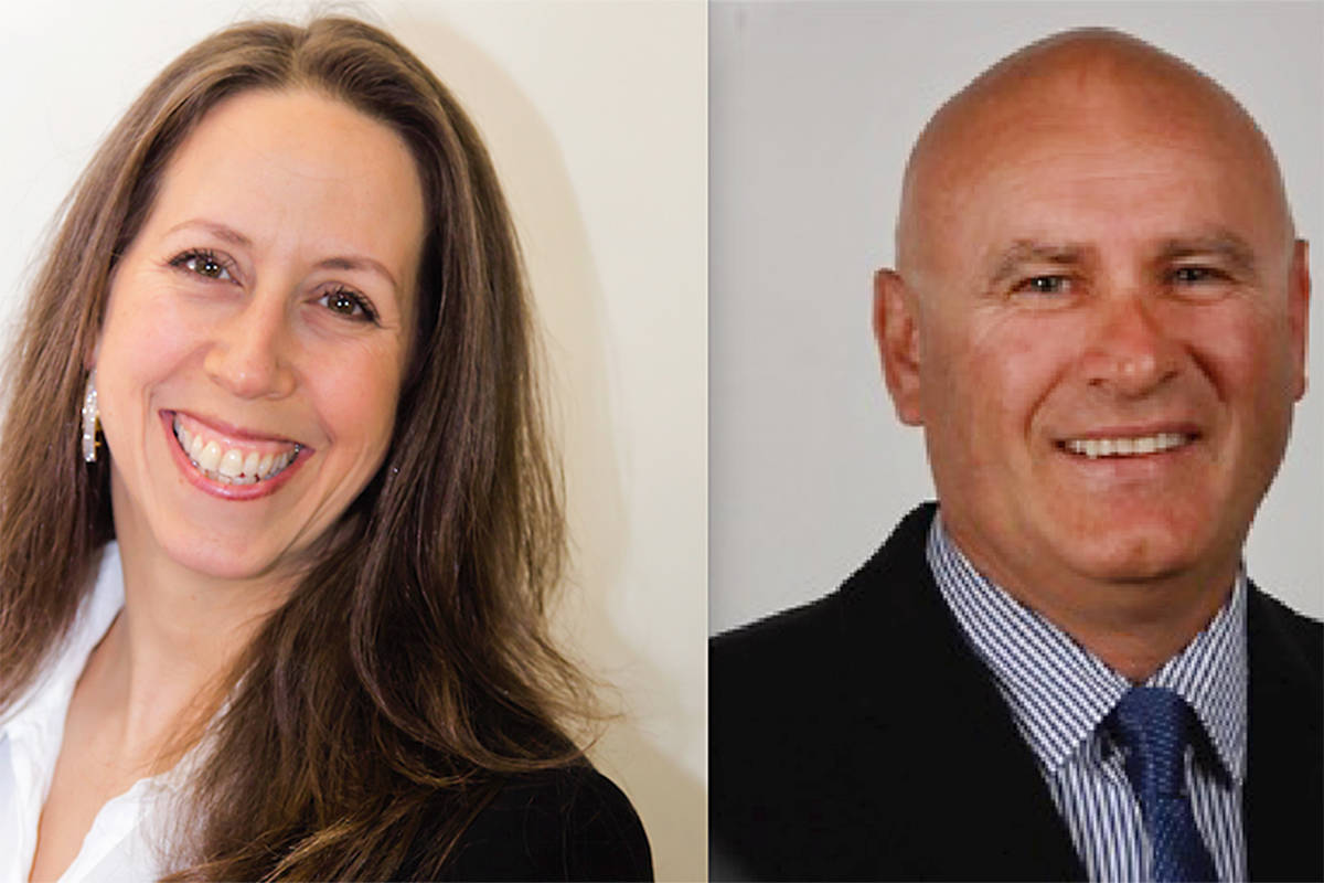 Suzanne Perreault and incumbent trustee David Tod have announced they will be running for the Langley school board. Supplied