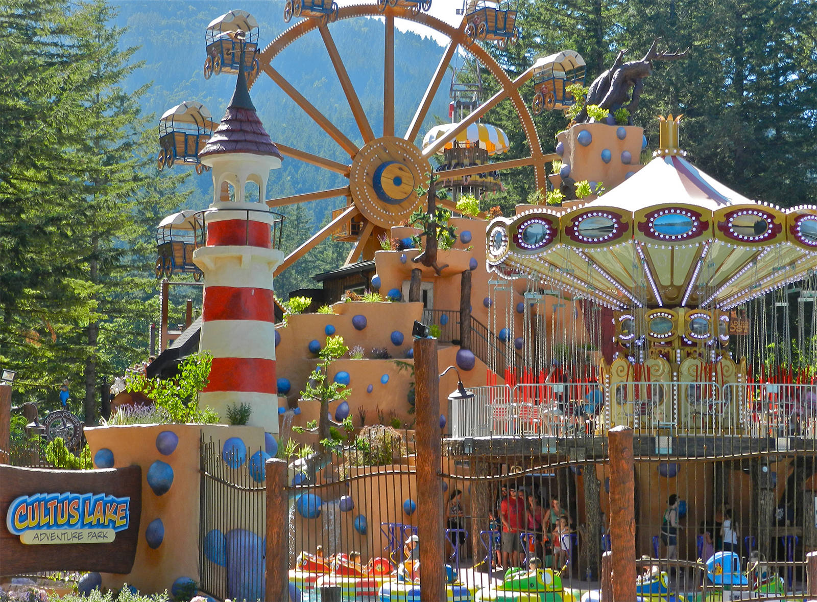 The Adventure Park is carefully designed so that every ride has its own character.