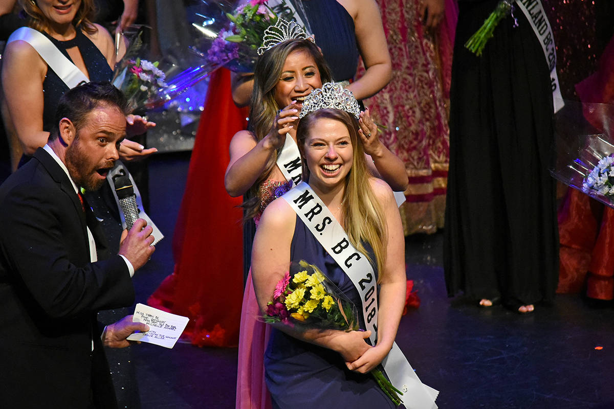 Taylor Aller was crowned Mrs. BC. Miranda Gathercole Black Press