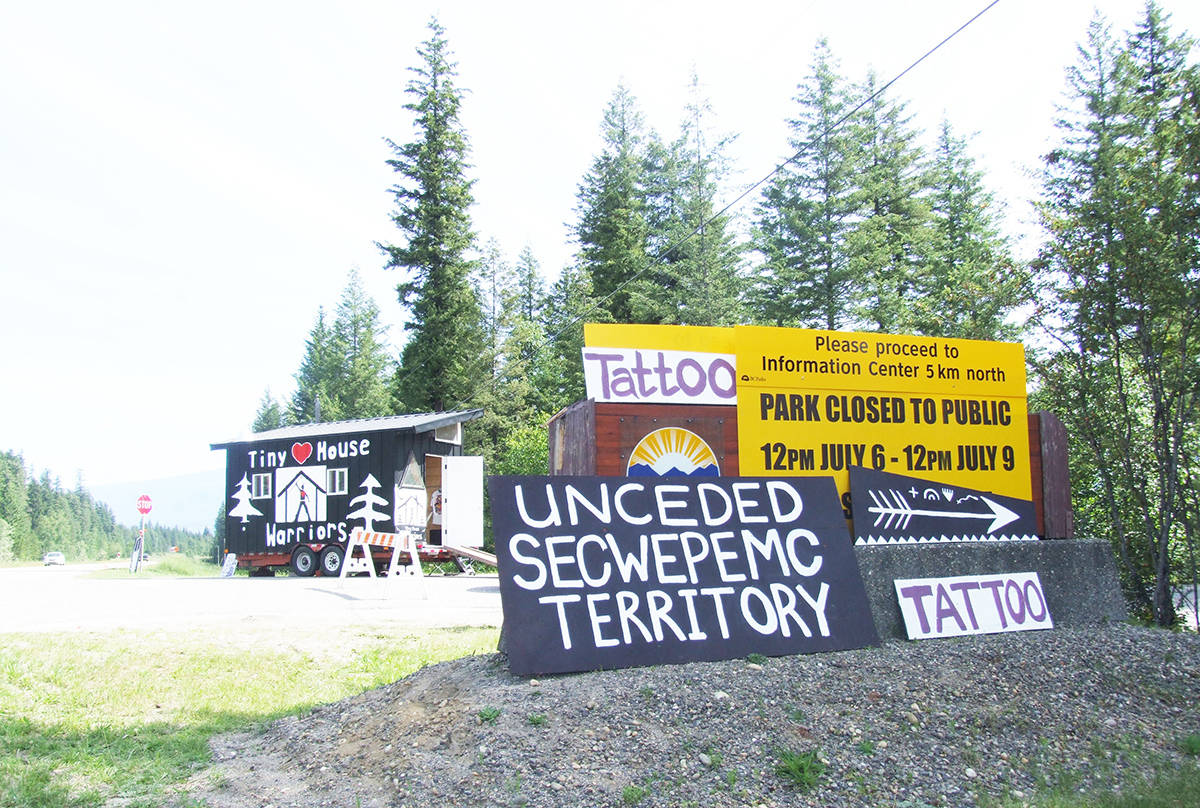 First Nation pipeline protesters erect 'tiny homes' in B.C. Park