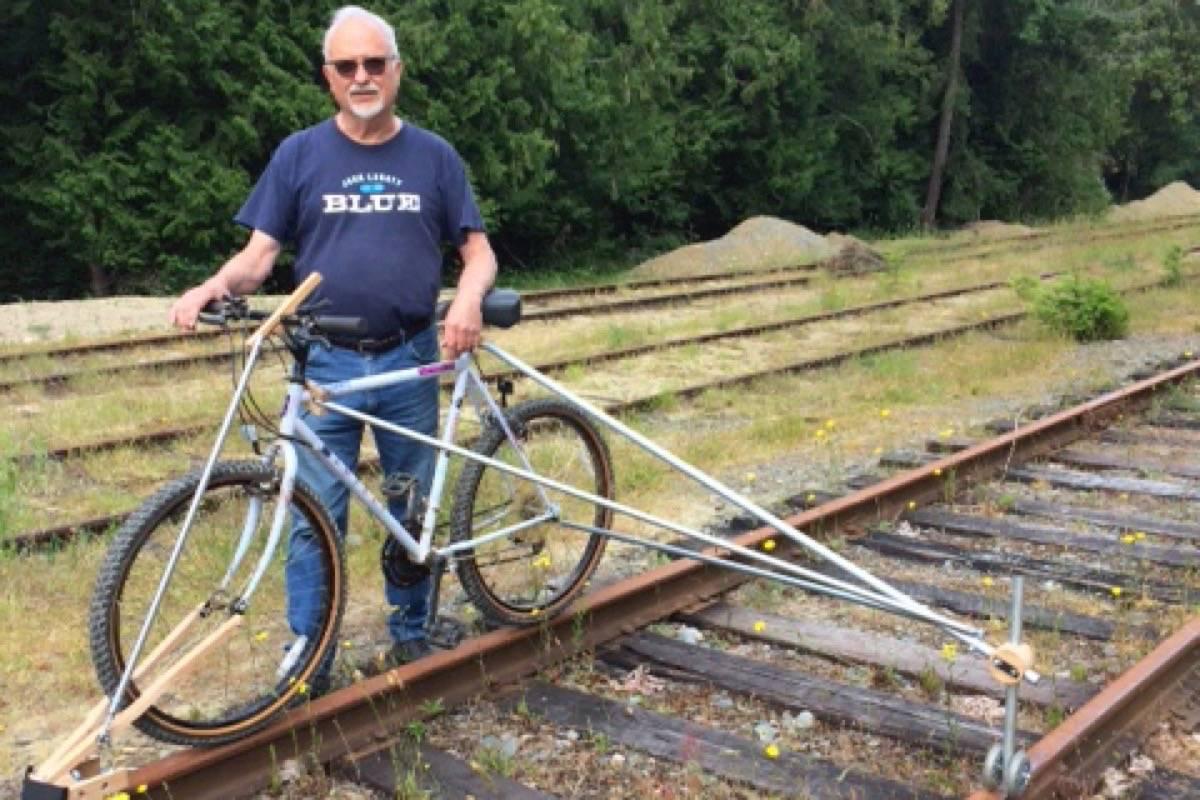 B.C. man, 71, builds bike that can glide along unused railroad