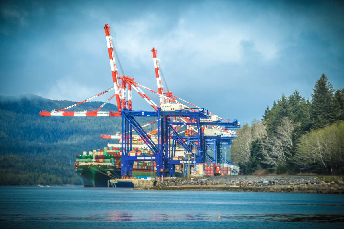 DP World's Fairview Terminal in Prince Rupert, B.C. (Shannon Lough / The Northern View)