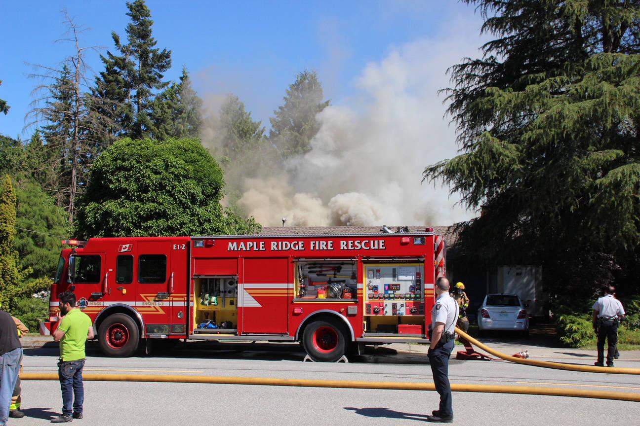 PHOTOS: 4 renters, kittens escape Lower Mainland house fire