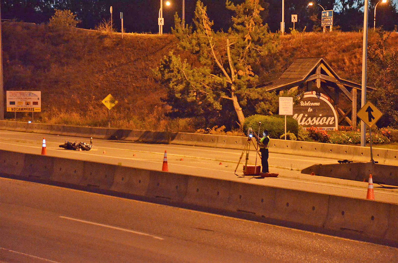 One dead after fatal motorcycle crash on BC's Highway 11