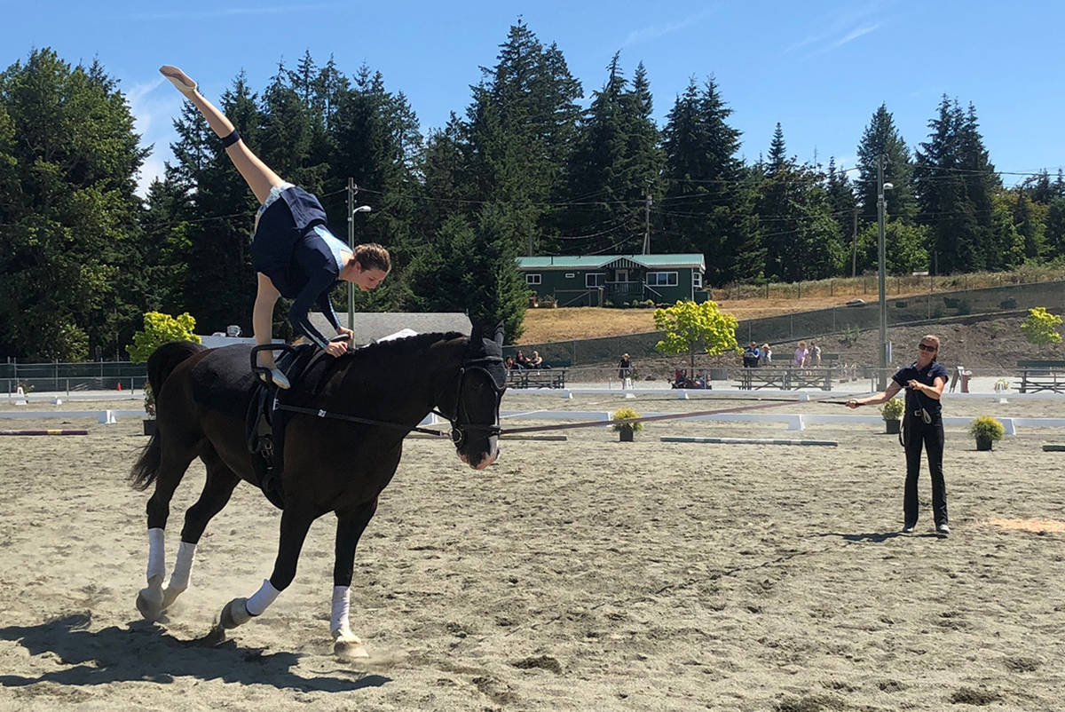 Langley, Nelson, Abbotsford riders takes top spots in horse vaulting at BC Games