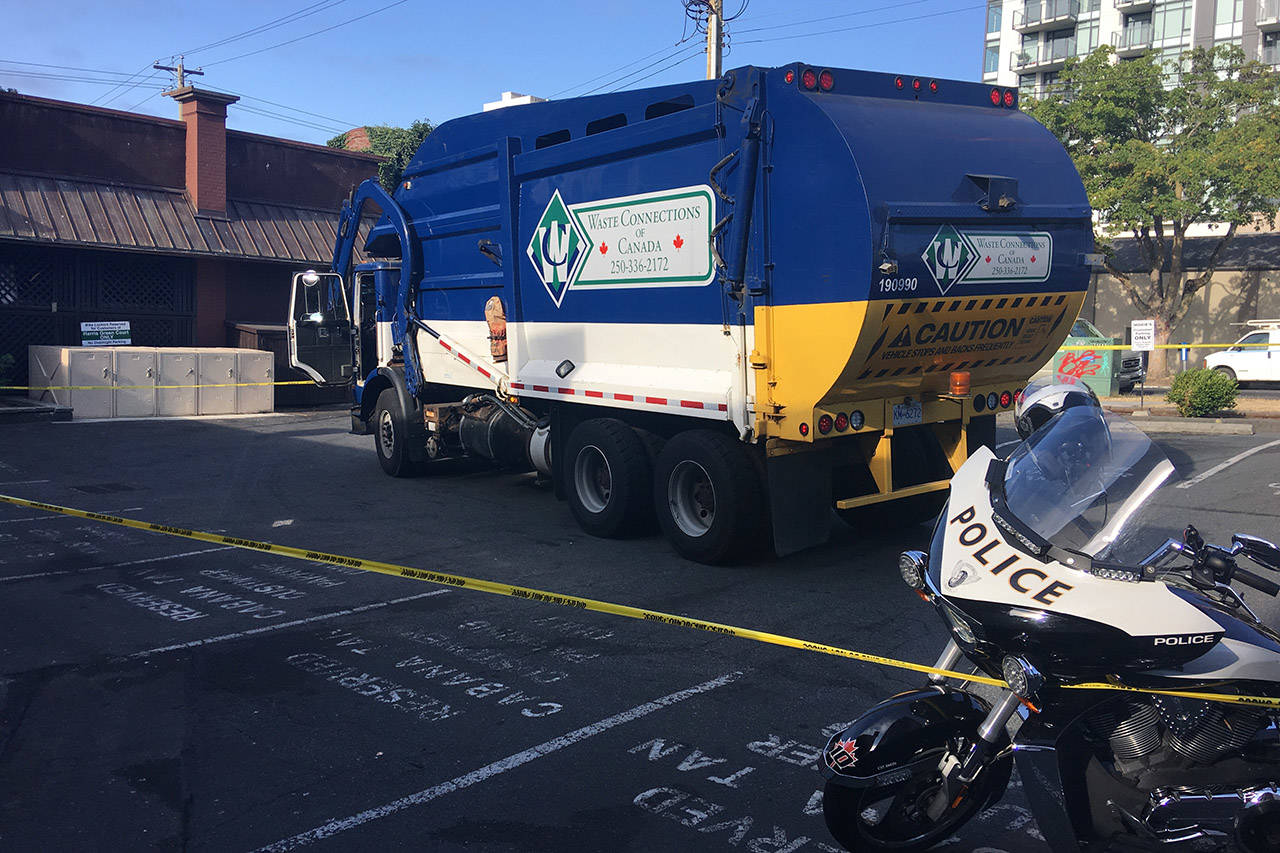 A man who was sleeping in a dumpster has died after being picked up by a garbage disposal truck. Ragnar Haagen/BLACK PRESS