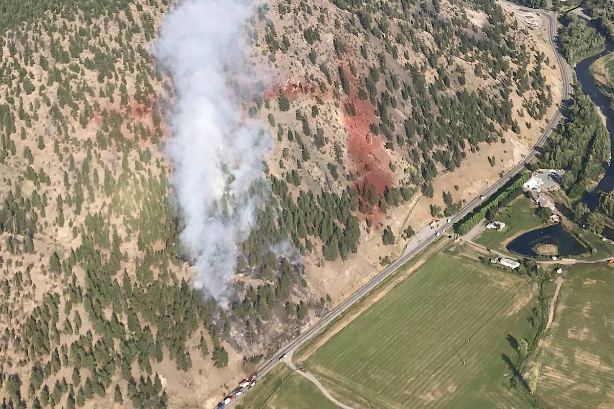 Crews responding to 3 hectare wildfire near Merritt