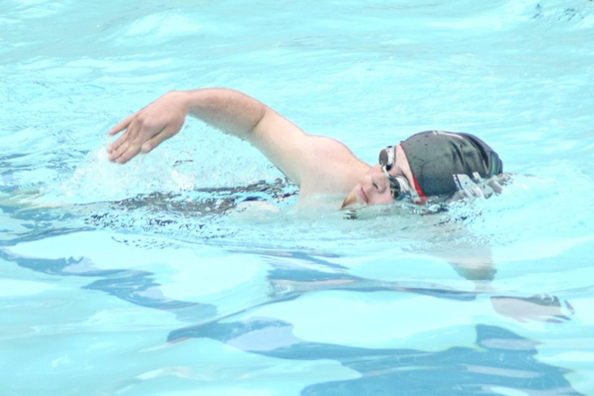 Langley swimmer Josh Low. File photo