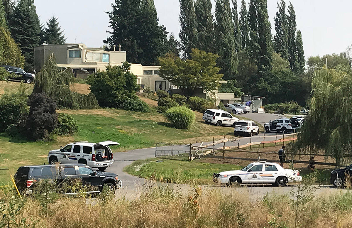 Heavy police presence at a residence in the Albion area after home invasion Thursday. (Contributed)
