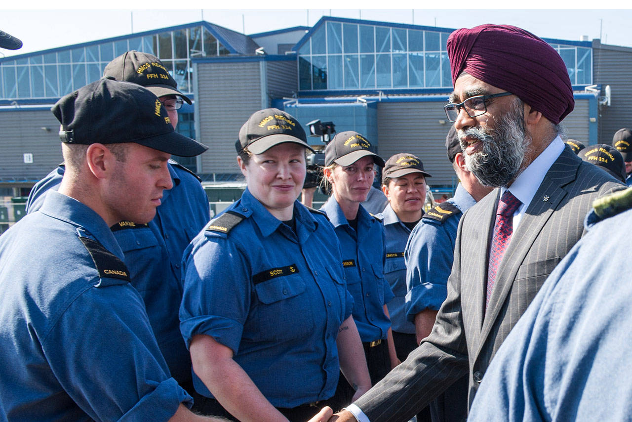 Defence Minister Harjit S. Sajjan announced a $115 million investment in to the Royal Canadian Navy. File contributed