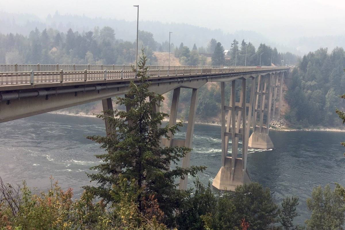 The Kinnaird Bridge in Castlegar was designed by the architect of the bridge that collapsed this week in Genoa, Italy. (Photo by Betsy Kline)