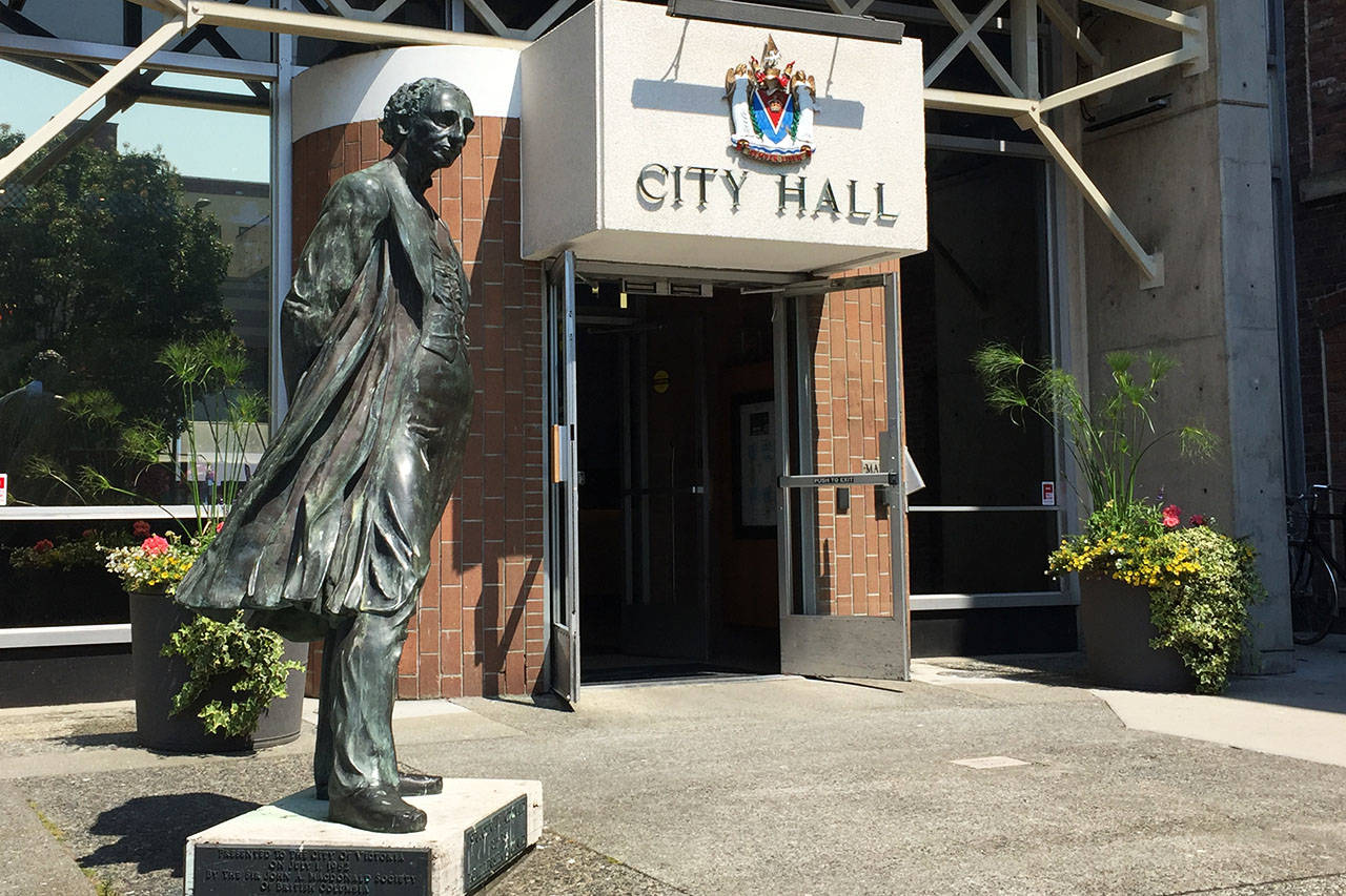 Victoria Mayor Lisa Helps has apologized for not including more people in the decision to remove the statue of Sir John A. MacDonald from the front of Victoria's City Hall. Nicole Crescenzi/VICTORIA NEWS