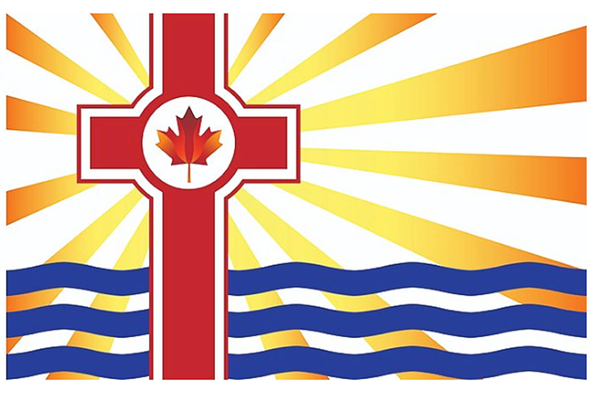 Culture Guard issued this image of the flag it proposes to fly at Langley City hall.