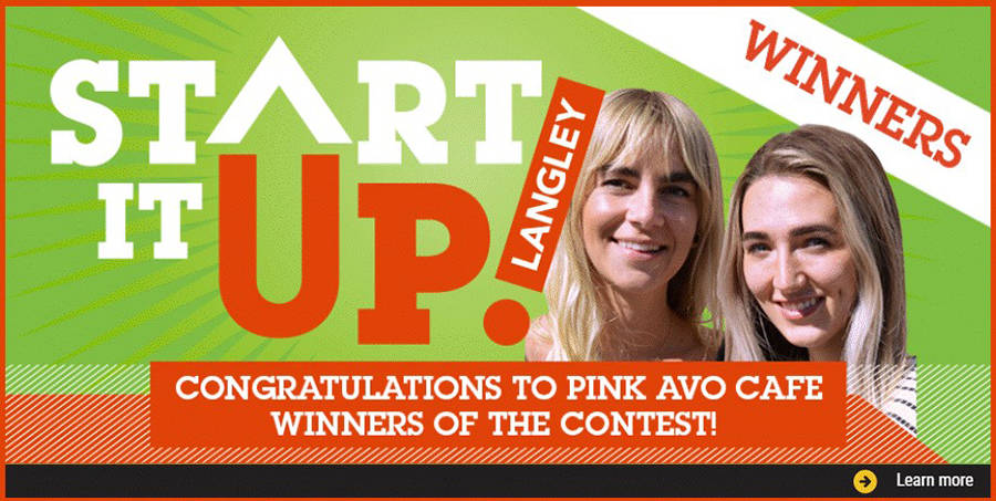 Chaylene Lidell and Shaughnessy Otsuji have been named winners of the Downtown Langley Business Association's Start It Up Langley contest. Photo via Downtown Langley Business Association Facebook page
